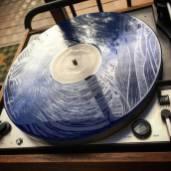 SLEEPING BEAR vinyl etching blue