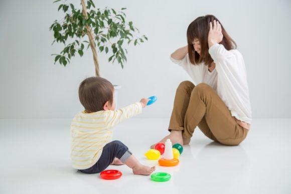 子供と悩む母