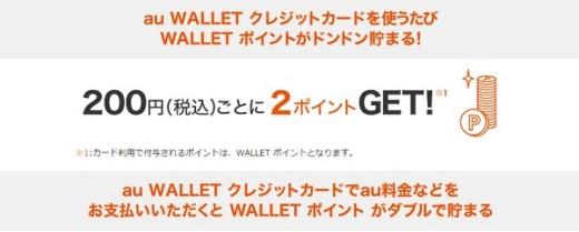 会うWallet クレジットカードはウォレットプリペイドの2倍のポイントが貰えるよ!
