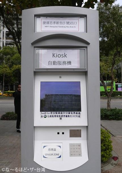 ステーションごとに設置されているKiosk。