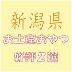 新潟県への出張で会社の女子から喜ばれる「お土産おやつ」2選
