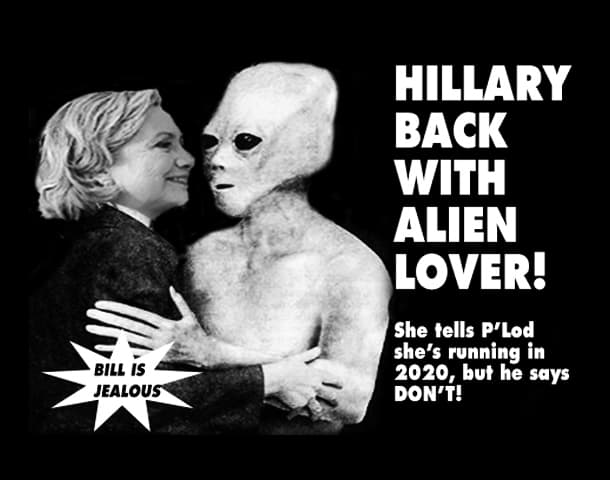 Hillary with Alien Lover