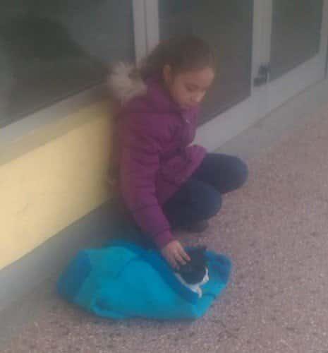DIRLJIVE FOTOGRAFIJE: Skinula svoj džemper da bi se ugrejalo mače (FOTO) 1