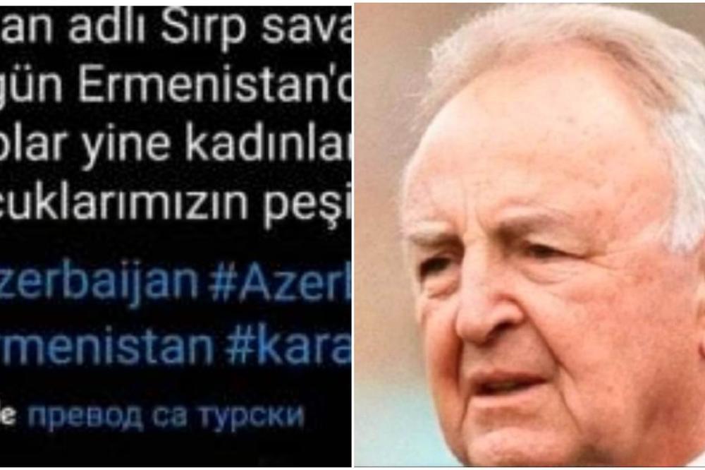 TURCI TVRDE DA JE OVO FOTOGRAFIJA ARKANA IZ 2020. GODINE: Viđen je u Jermeniji 1