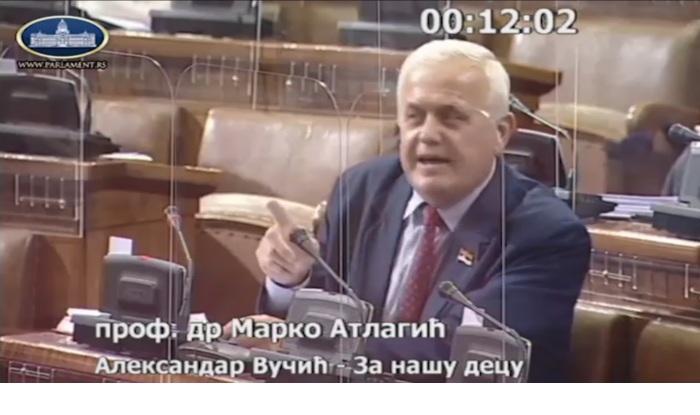 SRBIJA SPAVA: Dežurna SNS pljuvara i smradina u Skupštini zaradila 28.000 evra naših para! 3