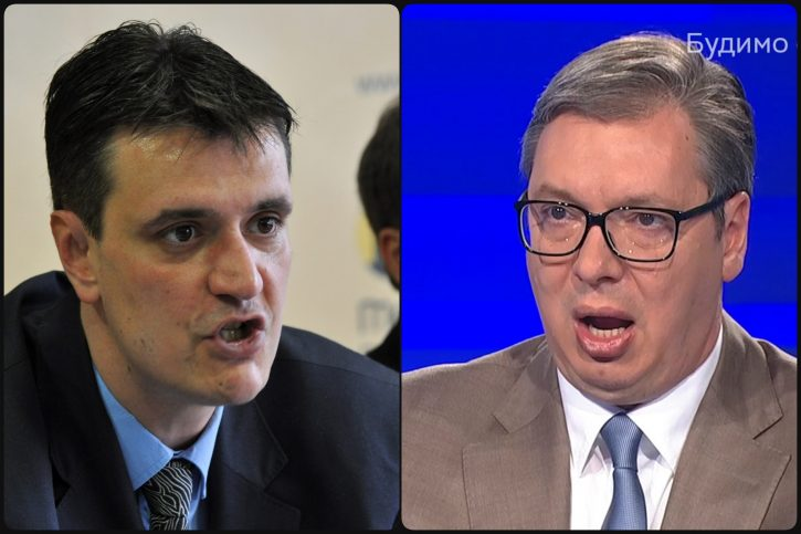 ČAČAK IZLEPLJEN PLAKATIMA, SNS U RASULU: Da li Vučić stoji iza ubistva Cvijana? 1
