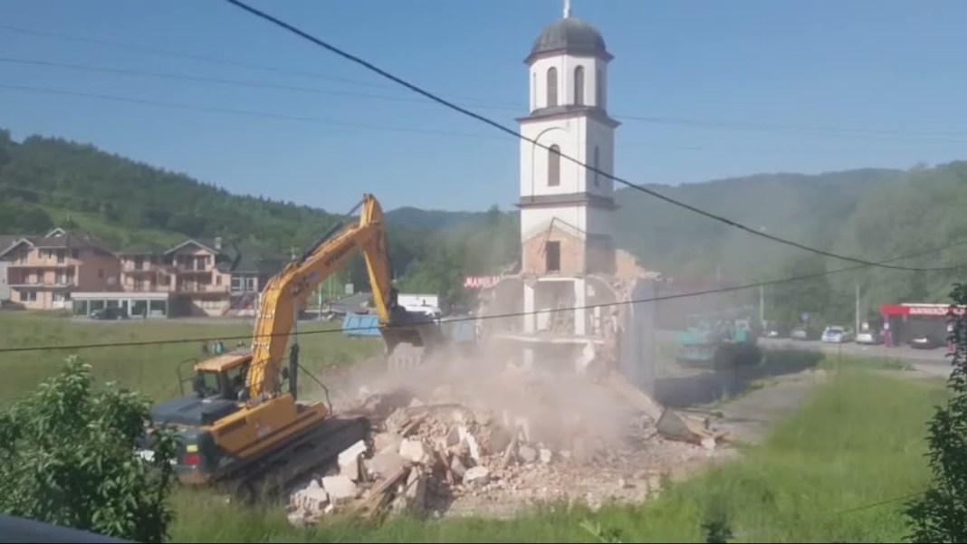 SRUŠENA PRAVOSLAVNA CRKVA u BiH sagrađena '98. godine na posedu Fate Orlović! (VIDEO) 1