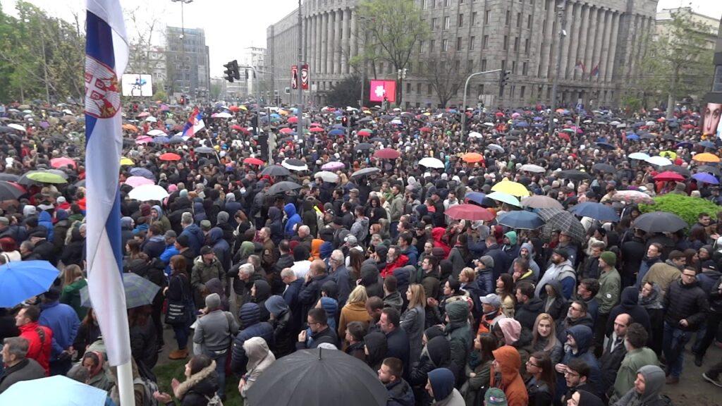 VELIKI PROTEST U BEOGRADU: Blokiran saobraćaj, evo šta se dešava! 1