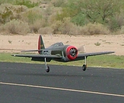 Hangar 9 P 47   NASAscale Bob Frey s new P 47 shown just before touch down at our club field  Sun  Valley Fliers  last Friday after it s 3rd or 4th flight    not sure which