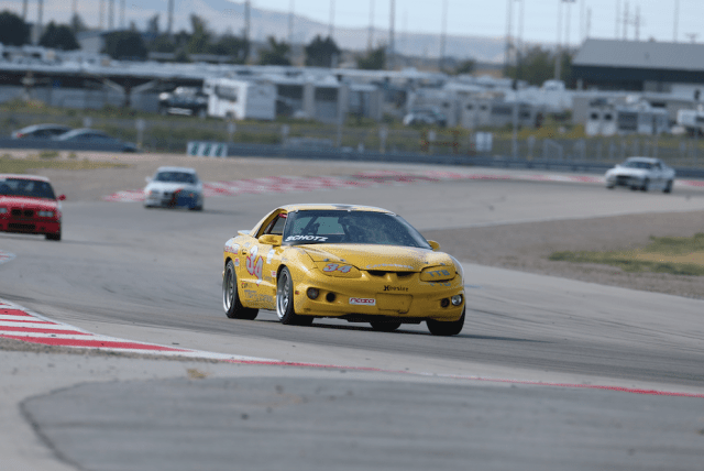David Schotz, who won the PTB and TTC at this year's National Championships, also won TTB, with a lap time of 2:06.974 in his Pontiac Firebird. That might be a NASA first. He bested Emilio Cervantes' 2:09.697 in his 1999 Mazda Miata. Ricky Johnson brought home third with a 2:10.095 in his Mini Cooper S.