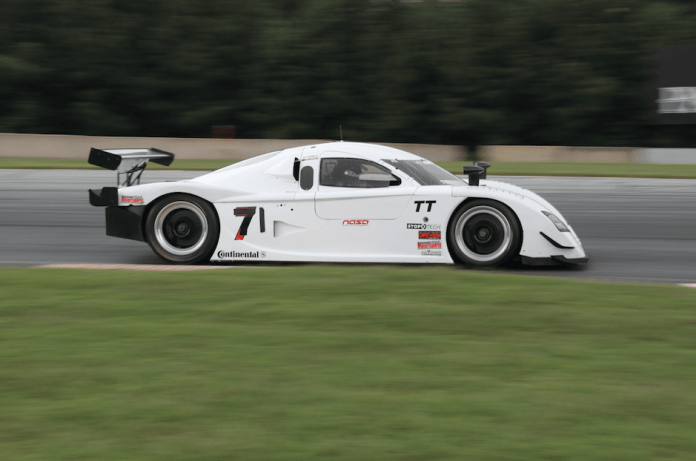 They have lots of old Sprint Cup cars in NASA Southeast, but this Daytona Prototype was a show-stopper.