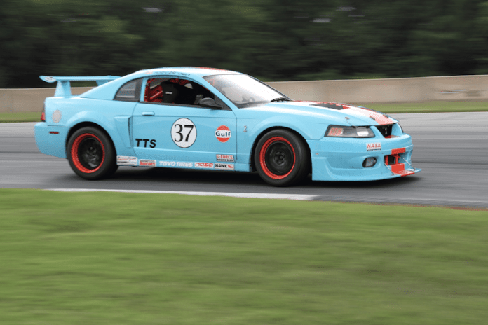 We have yet to see a car that doesn't look good in Gulf livery. This SN95 TTS Mustang is no exception.