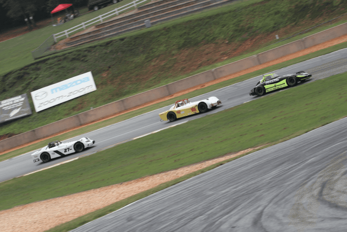 Thunder Roadster is a growing class in NASA Southeast. It also showcased some of the closest racing of the weekend.