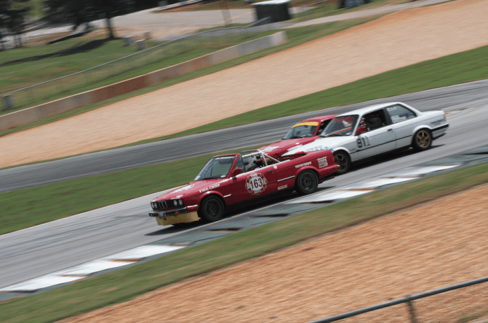 NASA Southeast has one of the largest Spec E30 fields in the country. More than 20 cars took the green flag that weekend.