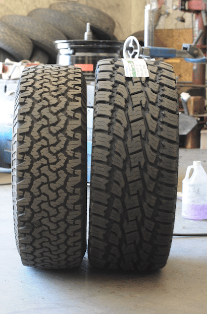 We upsized our tires from the factory 275/65/18 to an impressive 325/60/18. This tire is a staggering 1.3 inches wider and 1.2 inches taller, thus requiring wider aftermarket wheels. After much research, we chose a set of 18 x 9 KMC XD Series Hoss wheels with a +30 mm offset, which allowed us to bolt the new set right onto the truck with no additional modifications.