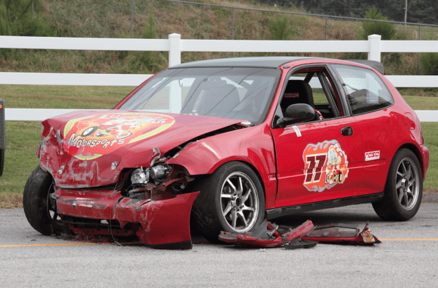 Michael Kelley crashed his Honda Civic at Road Atlanta in September. It's good to know he's back on track in his new Acura.