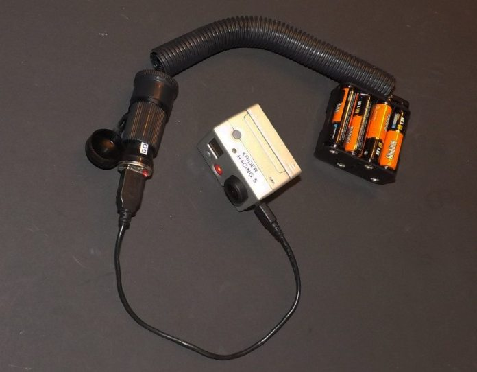 With the USB converter in my portable power source, I can charge a GoPro camera between sessions without depleting the battery on my racecar. You also can mount this system in a car during a long endurance race where you want that 32 gig SD card to cover the entire race, but the GoPro battery alone won't last long enough.