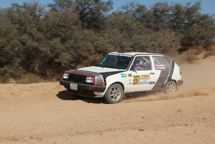 Andrew Lockhart and substitute co-driver Michel Hoche-Mong took second in 2WD Challenge at the Gorman Rally.