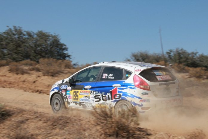 Brent Lee and John Dillon battled engine gremlins early in the rally to take fourth place.