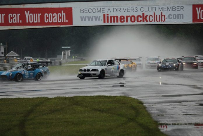 On-and-off rain on Saturday made tire choice difficult for racers.