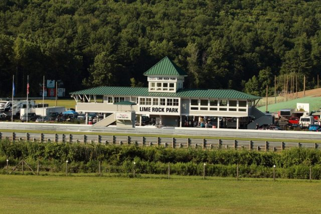 The front straight at Lime Rock is named after Sam Posey, who also designed the unique buildings at the track.