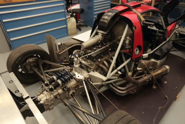 Élan engineer Robert Lindsey used the DP02 car's track width and wheelbase as a starting point for the NP01 chassis design.
