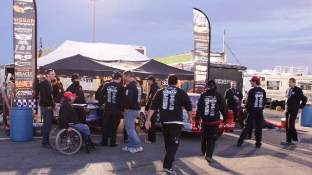You must have a large crew to be able to tackle the 25 Hours of Thunderhill. And if you want to look like a pro team you need to outfit the crew with uniforms that will hold up in the cold weather. Screen printed t-shirts will inevitably be covered up by sweatshirts and jackets.