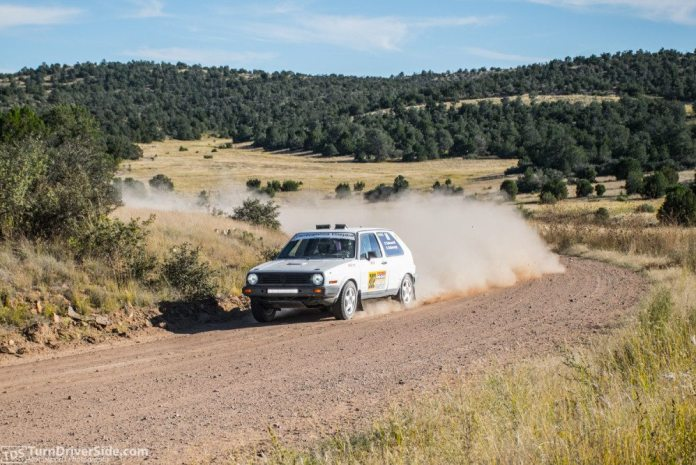 Father and son Bret and Doug Robinson nipped at the heels of second place, but finished third in 2WD Challenge at the Prescott Rally.