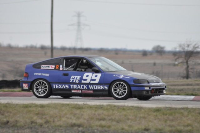 Kim Whitener took the TTE win on Sunday in her Honda CRX.