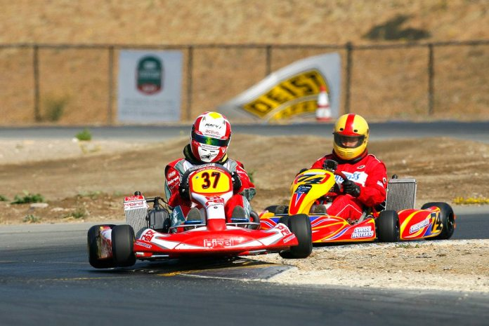 Powers also raced karts across the United States and in Europe.
