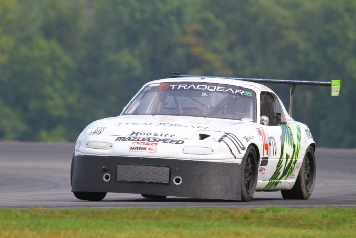 Eric Powell had a commanding lead, but he had an ignition problem and retired. He still took third place in PTD.
