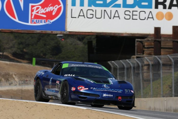 Robert Hall put his C5 Z06 to good use in winning TT2 with a 1:35.128.