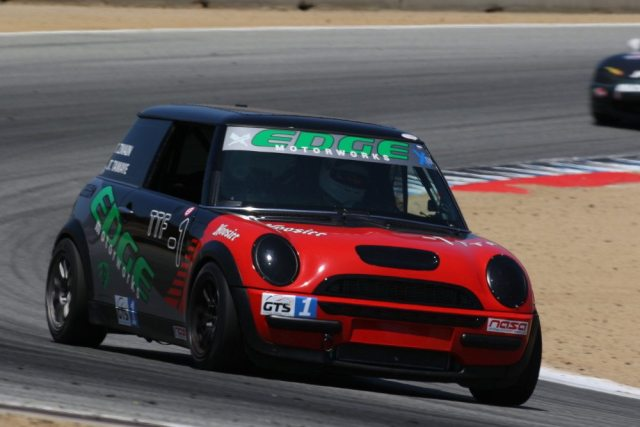 Team Edge Motorworks No. 2 scored a win with its Mini Cooper in TTF, with a 1:47.620.