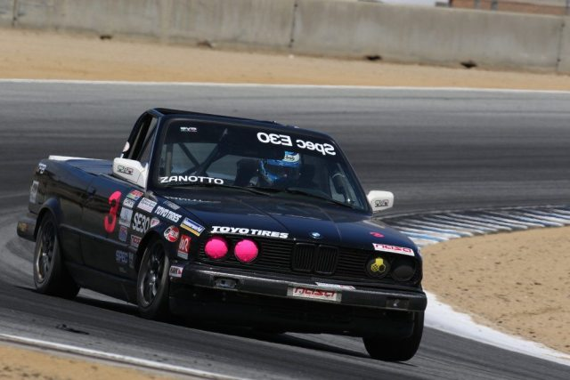 Raymond Zanotto had the lead at times, but finished in second place in Spec E30.