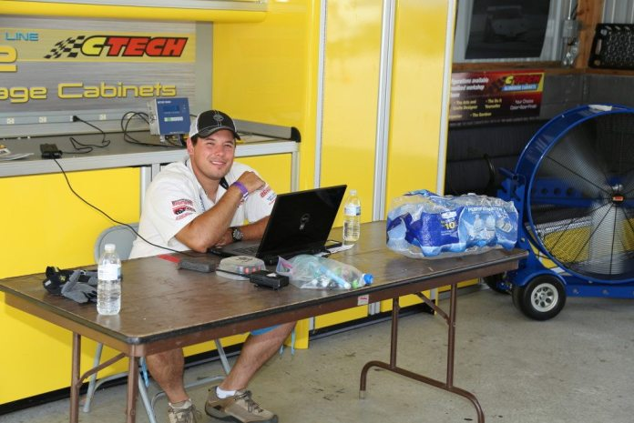 While everyone is out on track, the tech shed is open for business.