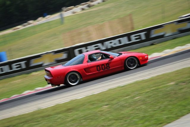 It's always nice to see an Acura NSX being wrung out on a racetrack. Ayrton Senna would approve.
