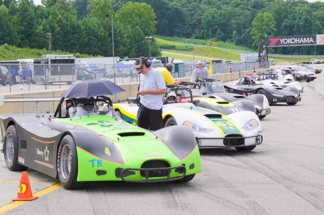 Nine Thunder Roadsters took the green at Road Atlanta in August.