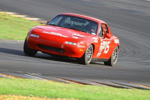 Matthew Denny took second place in PTF in his Mazda Miata.