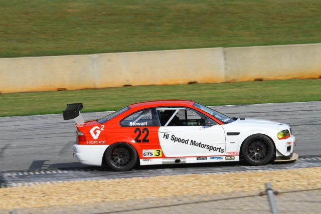 Hugh Stewart overcame a DQ on Saturday to take second in the Championships race in GTS3.