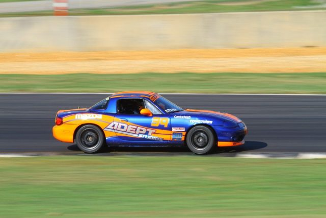 Danny Steyn led the most laps, but he was having trouble exiting Turn 7, and finished second.