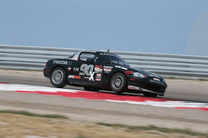 Texas Region series leader Trevor McCallion came in third in Spec Miata.