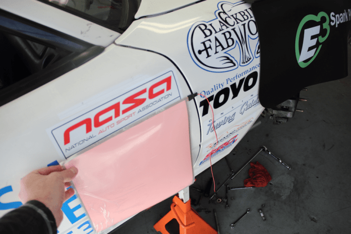 The lighted number panels would tape right over the daytime numbers for nighttime enduros. When not needed, remove them an store them in the trailer.