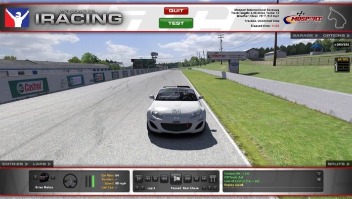 Simulation software not only lets you train on the prospective track, but also in the same kind of car you will be racing.