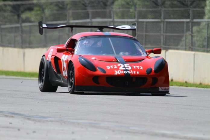 Greg Vannucci posted a convincing win in TT2 with a 1:30.851, some two seconds faster than the runner up. Unfortunately, Vannucci crashed his Lotus on the front straightaway during the ST2 races on Sunday. Fortunately, Vannucci got out of his car and walked to the ambulance on his own.