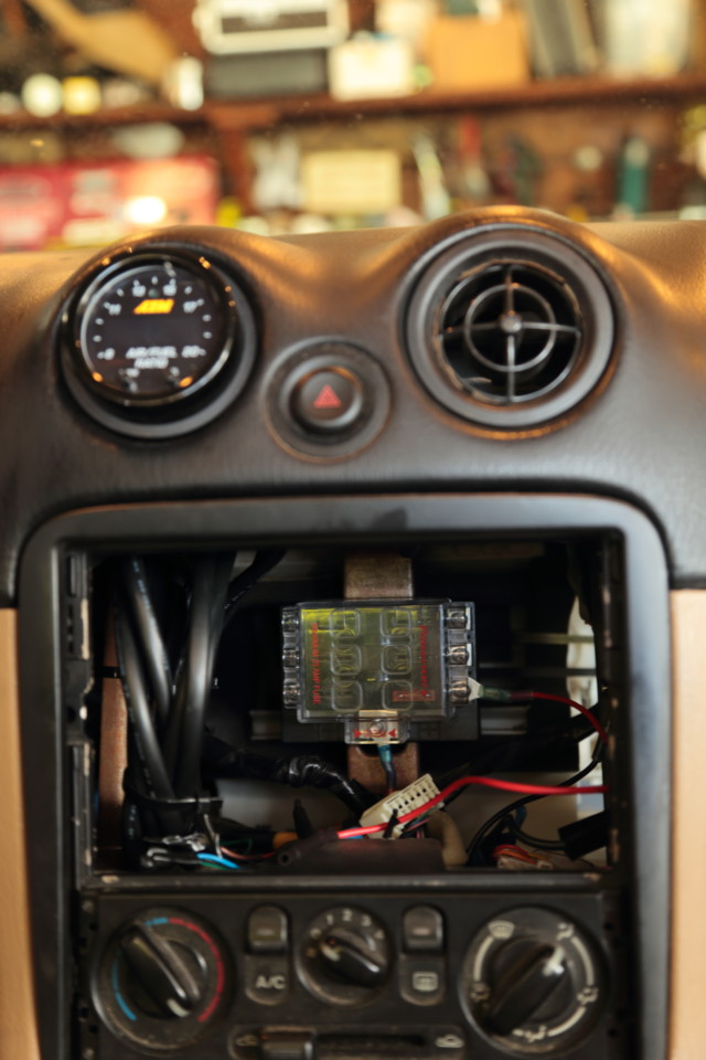 The installation is so simple considering how much capability is in one gauge. Screw the O2 sensor into the exhaust pipe and connect its harness to the gauge. Connect the gauge to power for a standalone unit or wire the harness into a logger for even more data.