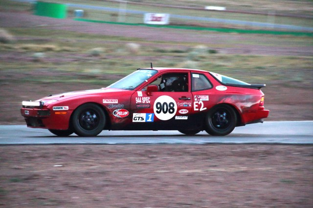 Team BuzzBomb racing made the right call on tires, and beat Team Mazdaspeed for the win in E2 at Willow Springs in March.