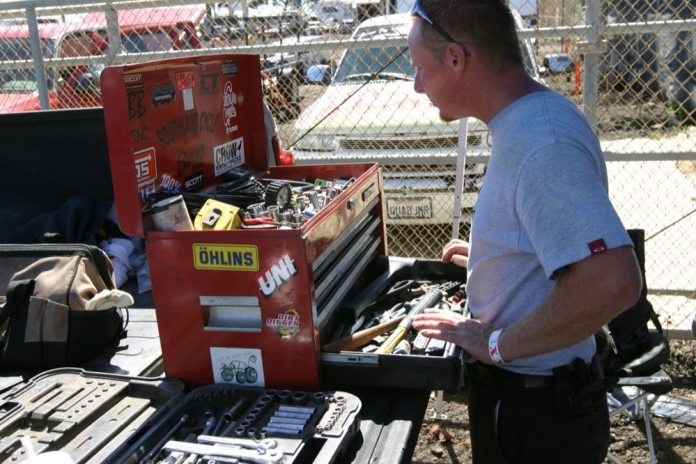 Set up your tool box at home so that it's easy to pick it up and take it to the track, and have everything you need.