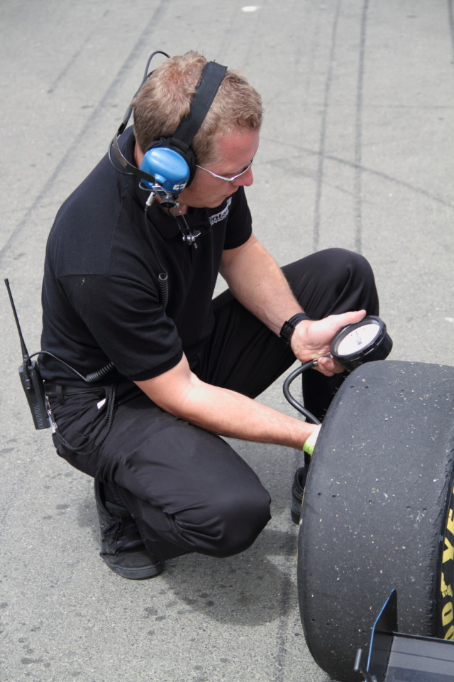 Checking and recording cold and hot tire pressures at each track will help you dial in your setup and maximize traction.