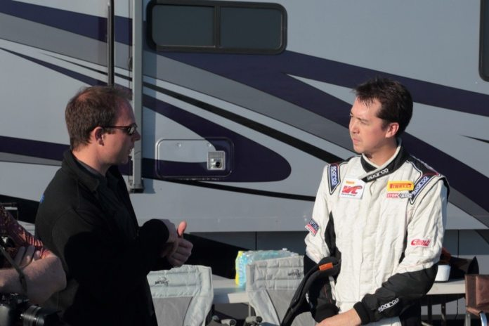 Jeremy Croiset chats with DSport magazine's technical editor Cameron Parsons after his stint in the NP01.