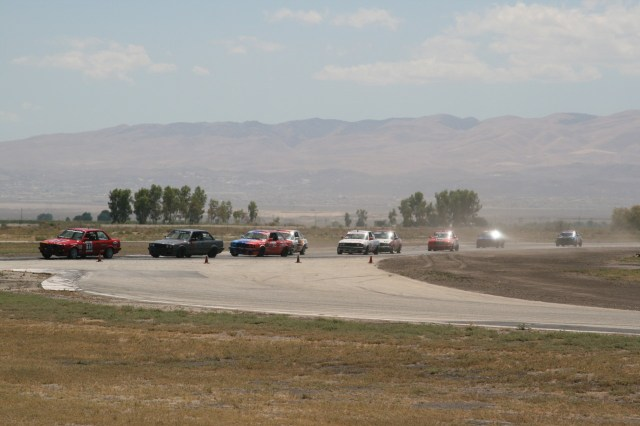 Drivers were struggling to find grip in the heat of Southern California's Central Valley.